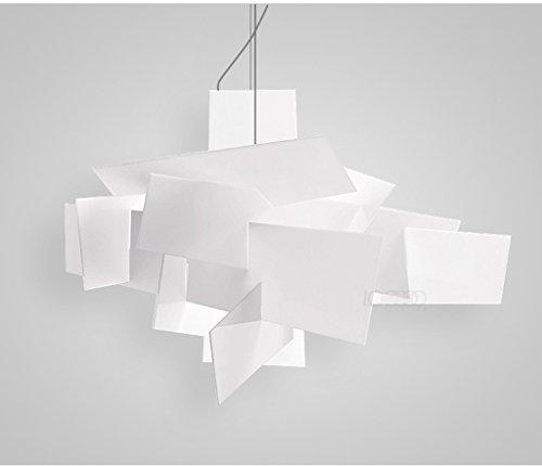 Creative personalità Nordic post-moderni lampadari Art Restaurant Bar acrilico bianco Big Bang impilati