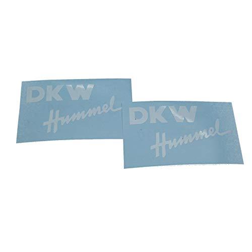 DKW Hummel 101 112 113, Ersatzteil Sticker für Seitenverkleidung und Seitendeckel Schriftzug Dekor. Zum Oldtimer Restaurieren von Lack und Verkleidung. Alternativ zum Motorrad Emblem