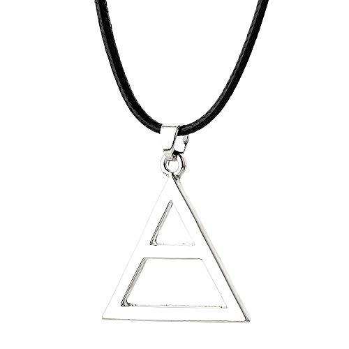 MINTUAN Collana per Uomo Donna Thirty 30 Seconds To Mars Collana Triangolo Geometrico Triade Pendente Logo Collane Gioielli con ciondoli