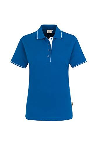 HAKRO Damen Polo-Shirt Casual - 203 - blau/weiß - Größe: 3XL