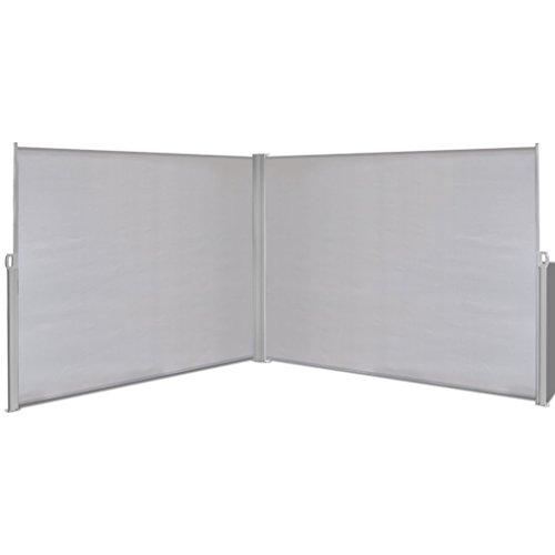 Festnight Tenda da Sole/Paravento da Giardino Laterale Retrattile 180x600 cm Grigia