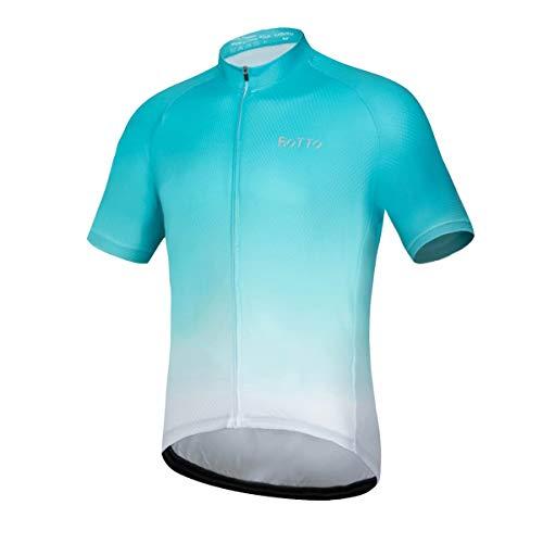 ROTTO Maillot de ciclismo de manga corta, serie de color degradado para...