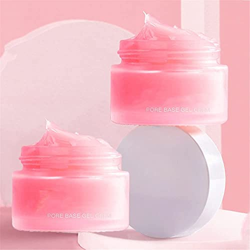 Pore Primer Gel Cream Hydrating Makeup Base,Pure Skin Tint Hydro Primer Silky Moist Delicate Isolating Pore Eraser Light Weight Primer,Natural Make Up to Represent Flawless (2Pcs)