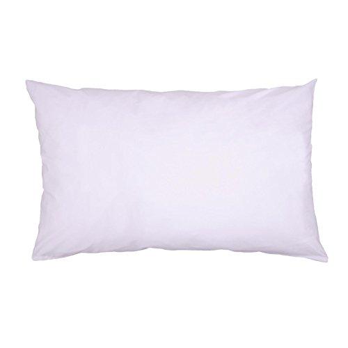 Hans-Textil-Shop Kissenbezug 30x60 cm Weiß Baumwolle (Deko, Sofa, Kissen, Kopfkissen, Kissenhülle)
