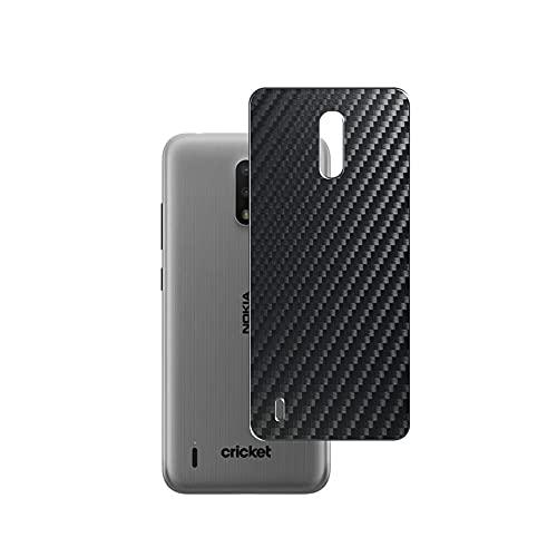 Vaxson 2 Unidades Protector de pantalla Posterior, compatible con Nokia C2, Película Protectora Espalda Skin Cover - Fibra de Carbono Negro