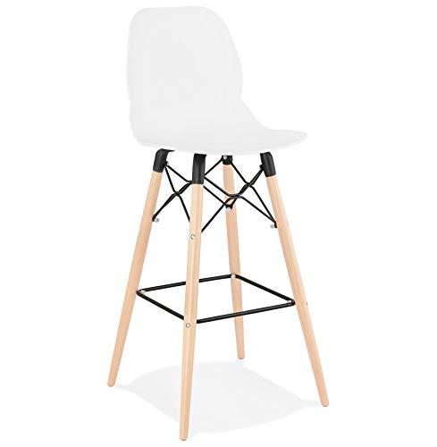 Alterego Tabouret de Bar Design 'COSMIK' Blanc Style scandinave