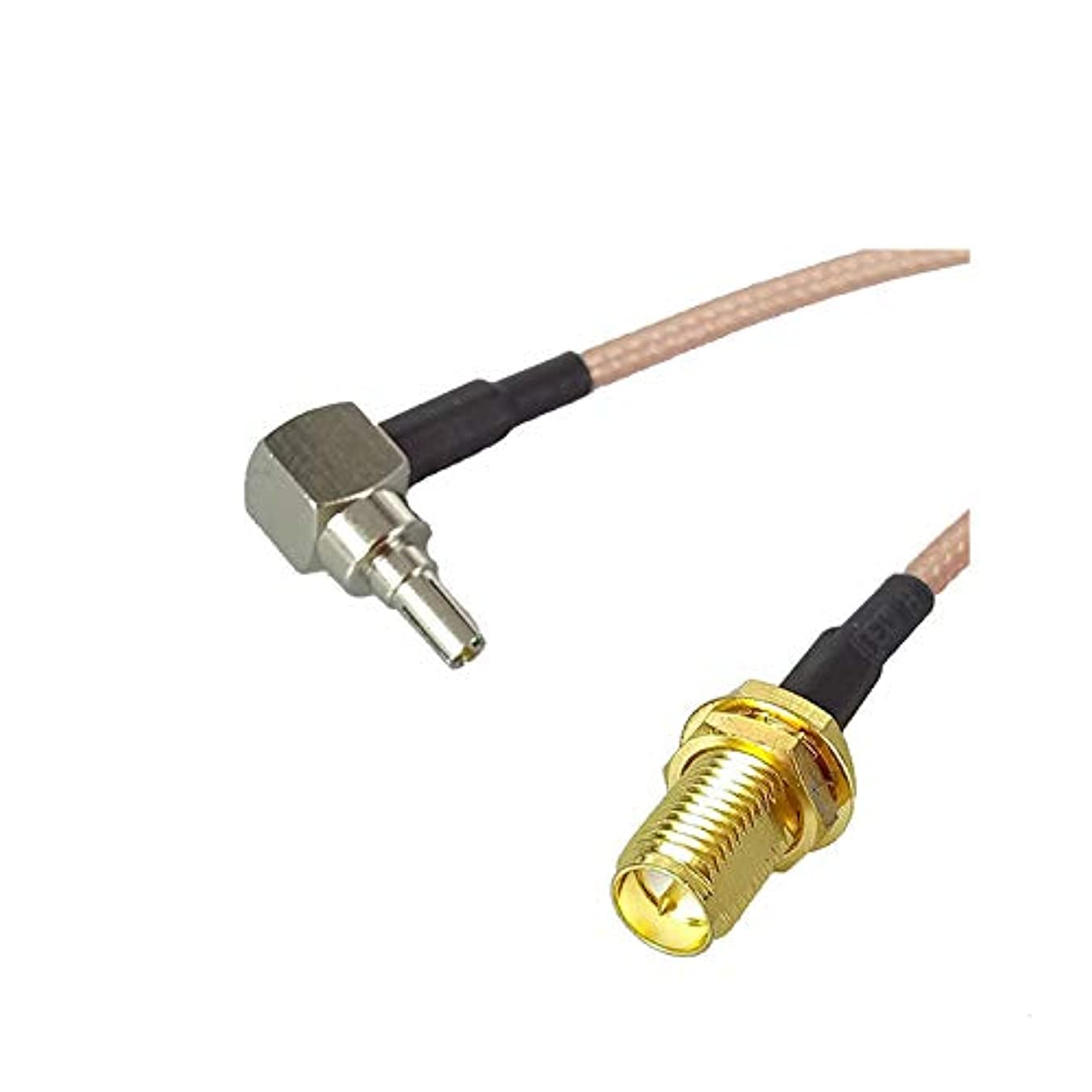 1PCS RP-SMA Female Jack nut to CRC9 Right Angle RF Cable RG316 Pigtail 15CM 6