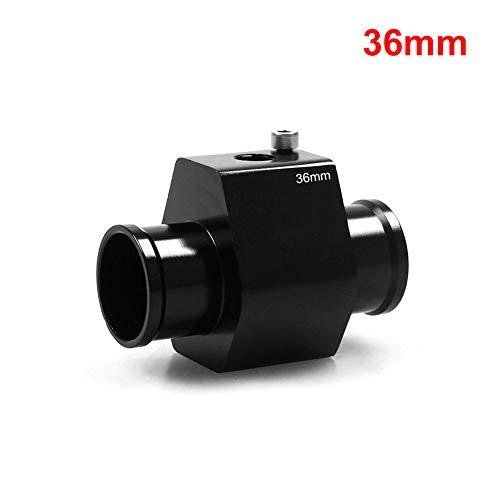 Adattatore per tubo del radiatore per termometro liquido refrigerante con sensore, 11 x 8 x 7 cm, include morsetti per tubo, colore nero 36 mm