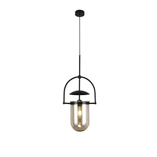 HSJ LF- Araña, Loft latón Japonesa lámpara de Cristal, lámpara de cabecera nórdica Caliente, Estilo Simple lámpara de araña (Color : Black)