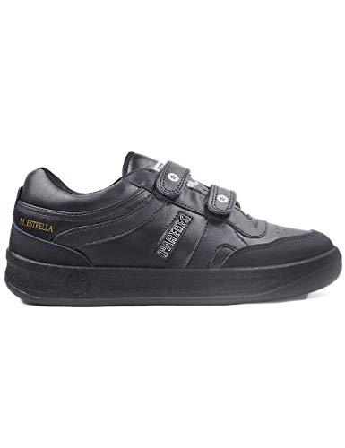 Zapatillas Casual para Hombre Fabricadas en España Paredes Estrella Negro Velcro - Color - Negro, Talla - 43