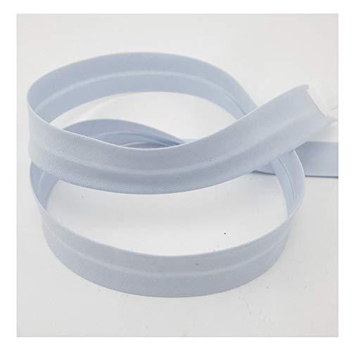 Schrägband, Elastisch, 18mm, Kanten-Band, Elastic, nähen, Meterware, 1meter (eisblau)
