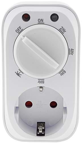 Analoge Zeitschaltuhr mit Dämmerungssensor für Innen I Countdown-Funktion 2-4-6-8 Stunden 16A 3600W Weiß