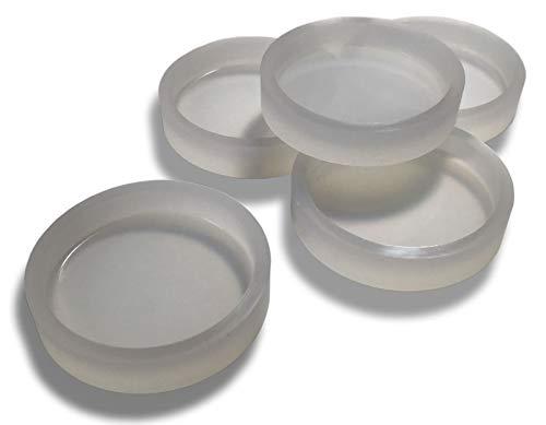 シリコンモールド 5個セット 直径33mm ツルツル ツヤツヤ 鏡面仕上げ レジン型 サークル 円 丸 コイン型