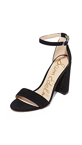 Sam Edelman Women's Yaro Classic Dress Sandal, Black Suede, 8 Medium US