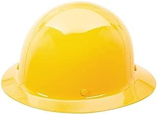 MSA Tan Skullgard Hard Hat with Staz-On Suspension and Full Brim 454664, Yellow
