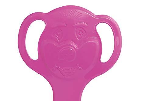 Jamara 460376-Snow Play Schneeflitzer Orso rosa fucsia – Struttura in plastica resistente e flessibile, Impugnatura per una presa facile, Peso leggero Slittino, Colore Pink, 460376