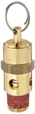 "Control Devices ST Series Brass ASME Safety Valve, 125 psi Set Pressure, 1/4"" Male NPT from Control Devices"