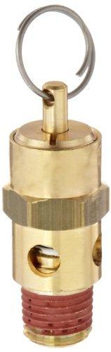 Control Devices ST Series Brass ASME Safety Valve, 125 psi Set Pressure, 1/4' Male NPT
