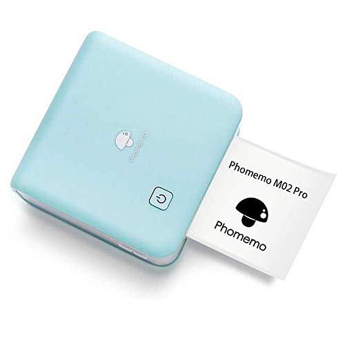 フォトプリター Phomemo M02 PRO 300DPI ミニ サーマルプリンター モバイルプリンター ポータブル式 フォトプリンタ メモプリンター 感熱プリンター Bluetooth接続 写真・メモ・手帳・領収書・ラベル 学生用 在宅勤務 自宅学習 多国言語対応APP 日本語取扱説明書 グリーン