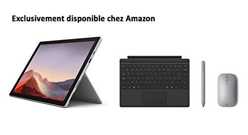 avis pc hybrides professionnel Package Microsoft Surface Pro 7 dédié – PC hybride (écran 12,3 pouces, Intel Core i5, 8 Go de RAM,…