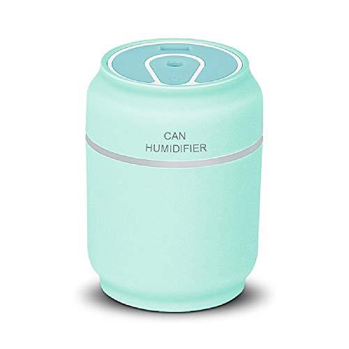 XXCLZ draagbare USB-luchtbevochtiger, leuke mobiele telefoon-aromaverstuiver luchtbevochtiger, met een mini-ledlicht en mini-ventilator, voor thuiskantoor, slaapkamer