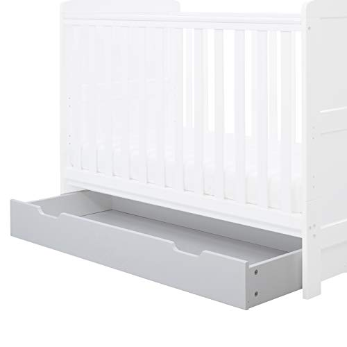 Ickle Bubba 120 Cot Bed Under Drawer - White