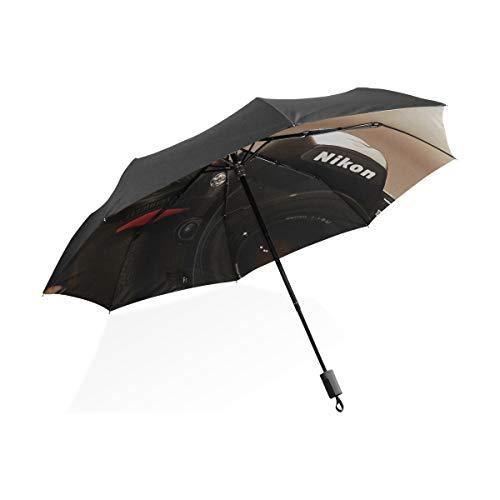 Paraguas a prueba de viento Gatos grandes Mordida Cámaras divertidas Nikon Kittens...