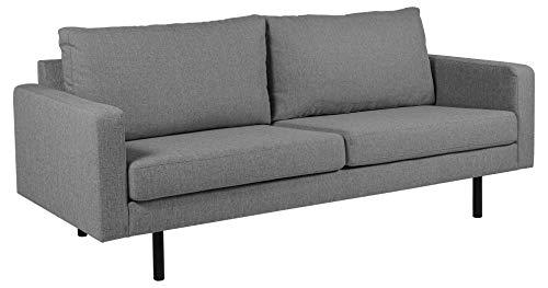 Movian Ticino - Sofá de 2,5 plazas, 88 x 210 x 88 cm (largo x ancho x alto), gris claro