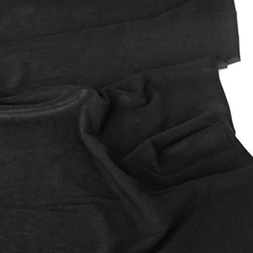 TOLKO Modestoff   Dekostoff universal Stoff zum Nähen Dekorieren   Blickdicht knitterarm   125cm breit   Das Multitalent unserer Bekleidungsstoffe Vorhangstoffe Baumwollstoffe Meterware (Schwarz)
