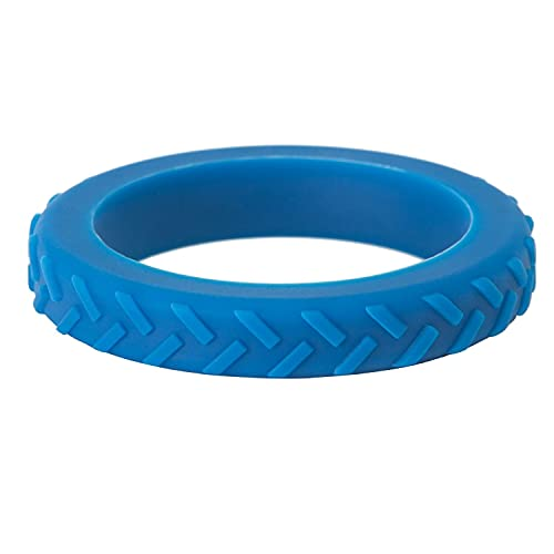 Chewigem Child Chew Bracelet. Blue Textured Anxiety Chew and Calming Aid. Strong Sensory Chew and Anxiety Bracelet. Discreet Autism Chew Toys and Sensory Processing Aid Helps Improve Focus.