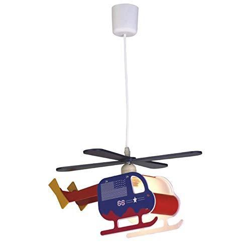 Wonderlamp W-A000121 Lámpara de Techo Infantil Helicóptero, Color Azul
