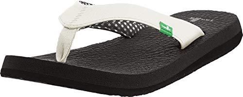 Sanuk Women's Yoga Mat Flip Flop,White,7 M ()
