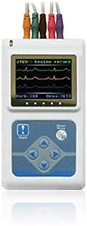 SISHUINIANHUA Grabadora ECG Monitor Portátil Cable Corazón De Vigilancia 3 Canales del Sistema Dinámico 24Horas