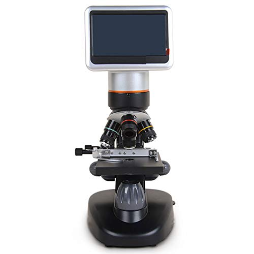 JFF LCD Digital Microscope Biological Microscope with A Built-in 5MP Digital Camera Adjustable Mechanical Stage Carrying Case