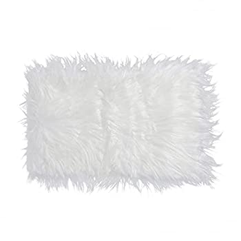 OULII Baby Photo Props Soft Fur Quilt Photographic Mat DIY Newborn Baby Photography Wrap-Baby Photo Props Favors  White