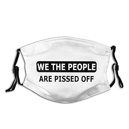 Hirola We The People Are d Off Face Ma-Sks Deko-Abdeckung, wiederverwendbar, staubdicht, für Schutz, verstellbare Ohrschlaufe