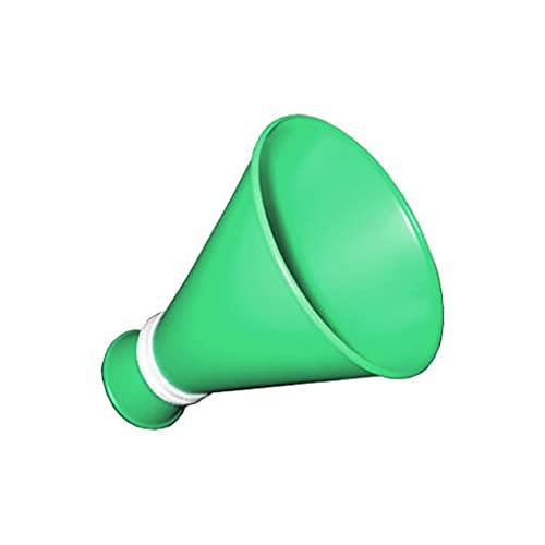 プロモ ミニメガホン 緑 コンパクトサイズ 紐付き 日本製
