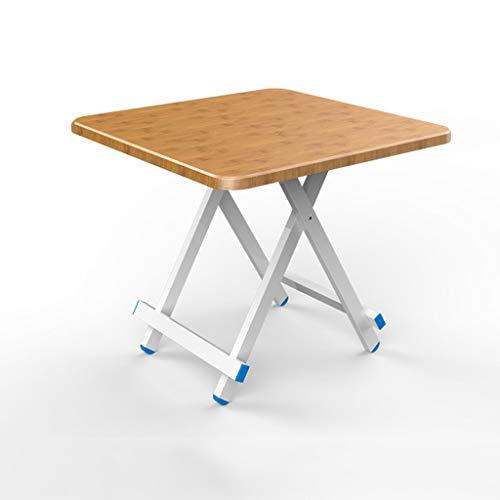 GXCIHGIUHUI GXC klaptafel, vierkant, hoogwaardig, tafel van hout en aluminiumlegering, materiaal van massief hout, draagbare slaapzak, multifunctioneel 60cm Bruin
