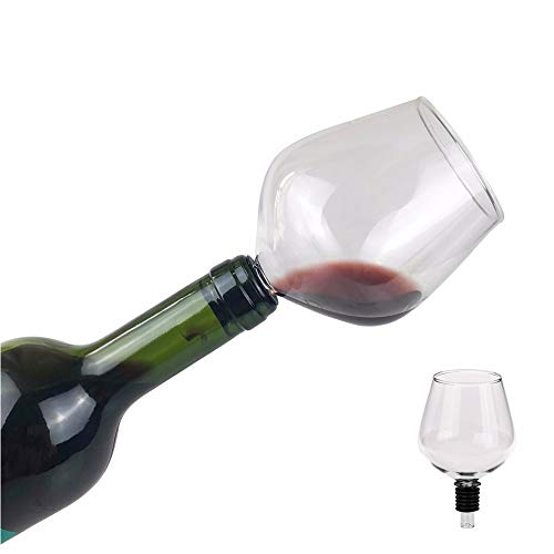 Danghe Eflying León Vidrio de Vino Rojo Sello silicome con, Bebida Directamente de la Botella, 260ml (Capacity : 260ml)
