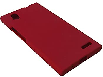 for ZTE Warp Elite N9518 Hard Snap on Protector Phone Cover Case + Happy Face Phone Dust Plug  Red