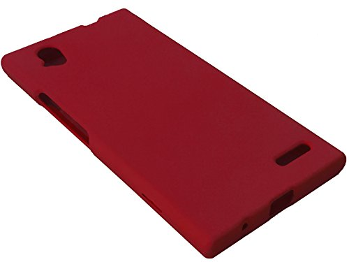 for ZTE Warp Elite N9518 Hard Snap on Protector Phone Cover Case + Happy Face Phone Dust Plug (Red)