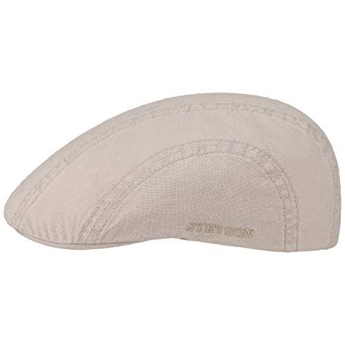 Stetson Madison Delave Flatcap Damen/Herren - Nachhaltige Cap - Hochwertige Bio-Baumwolle - Unifarbene Kappe mit UV-Schutz - Leichte Freizeitcap mit Futterband - Frühjahr/Sommer beige XXL (62-63 cm)
