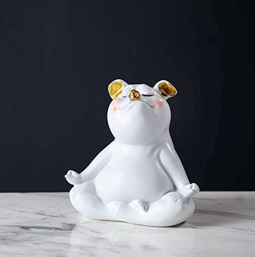 Shovv Decoratie keramische hars Nordic cartoon yoga biggen versierd moderne minimalistische decoraties De creatieve persoonlijkheid van de huiskamer TV-kast