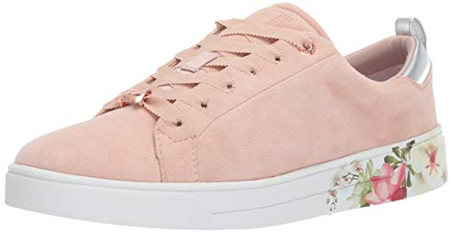 Ted Baker Women's ROULLY Sneaker, Nude Suede, 11 M US