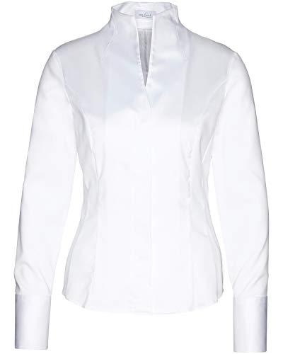 van Laack Damen Alice-NOS Bluse, Weiß (Weiß 000), 36