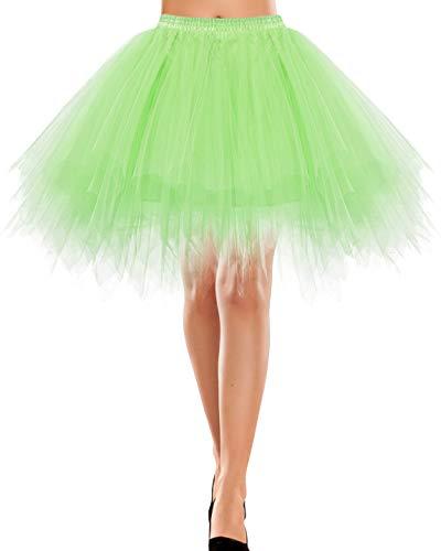 Tutu Ballet Tüllrock Crinoline Cosplay Rock Vintage Kinder petticoatRetro Tutu Ballet Tüllrock Crinoline Karneval kostüme Cosplay Rock Rockabilly Tanz Ballett Mint L