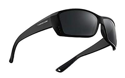 TOREGE Polarized Sports Sunglasses for Men Women Cycling Running Driving Fishing Golf Baseball Glasses TR23 (Black&Black&Grey)