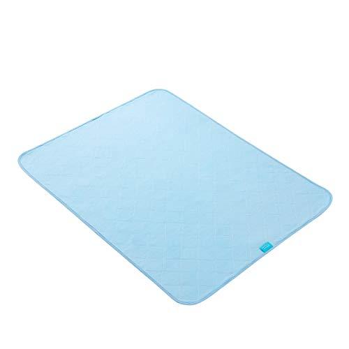 Zioprea Colchón De Dormir Antideslizante Impermeable Transpirable Incontinencia, Lavable, Azul (86x 132 cm)