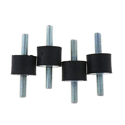 Enet Gummihalterungen, M6/M8 Stoßschutz-Gummihalterungen, Isolator-Spule für Auto, Stoßdämpfer MF, 4 Stück, metall, M6 20x15mm