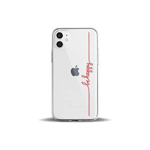 Carcasa para iPhone 11 Pro 7Plus 7 6S 8 8Plus X XS MAX XR con Frase Positiva para Chicas de Color Rojo